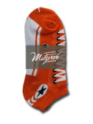 6 pairs Sneaker Socks Orange v3 Women's / Girls Socks Shoe Size 4-10