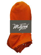 6 pairs Solid Socks Orange v2 Women's / Girls Socks Shoe Size 4-10